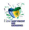 national flag saint vincent vector image vector image