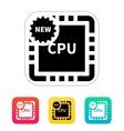 New CPU icon vector image