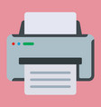 office printer icon vector image vector image