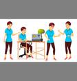 office worker woman modern employee vector image
