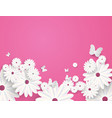 paper cut butterfly with flower background