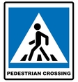 Pedestrian Symbol isolated on vector image
