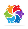 people family logo vector image vector image
