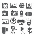 photo icons set on white background vector image vector image
