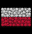 polish flag collage of glad smile items vector image