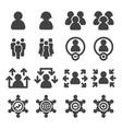 population icon vector image