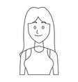 portrait young woman avatar female smile vector image vector image