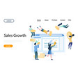 sales growth website landing page design vector image vector image