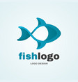 sea fish abstract logo modern style logo vector image vector image