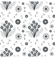 seamless botanical pattern with dandelion flowers vector image