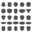 set of blank empty dark shields shield badge vector image vector image