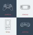 Set of Modern Thin Line Icons Gamepad Console vector image