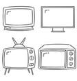 set television vector image