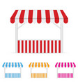street stall market set one vector image