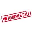Summer sale stamp vector image