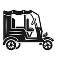 taxi cab motorbike icon simple style vector image