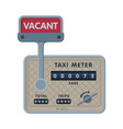 taximeter device calculating equipment service vector image vector image