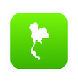 thailand map icon digital green vector image