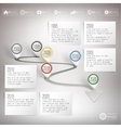 Timeline with pointer marks Infographic for vector image vector image