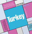 Turkey icon sign Modern flat style for your design vector image vector image