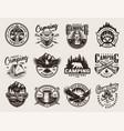 vintage monochrome summer adventure logos vector image vector image