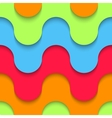 Wavy seamless pattern multilayer plastic vector image