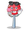 with ice cream sweet lollipop character cartoon vector image