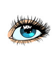 wow highlight in the eye vector image