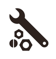 Wrench nuts and bolt icon vector image vector image