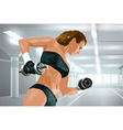 Young strong woman training vector image vector image