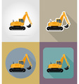 transport flat icons 25 vector image