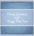 greeting christmas card with snowflakes pattern vector image