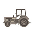 tractor flat icon of a farmer vehicle in design vector image