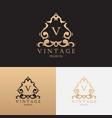 vintage premium brand logo template vector image