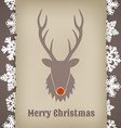 Christmas design with deer vector image
