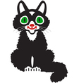 A black kitten vector image