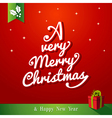 A very Merry Christmas tree composition vector image vector image