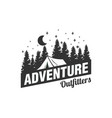 adventure logo designs with pine trees vector image vector image