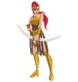 amazon archer warrior vector image vector image