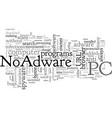 an honest review noadware vector image vector image