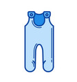 baby jumpsuit line icon vector image vector image