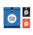 Bag paper for food vector image