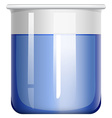 Beaker with blue substance vector image vector image