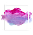 beautiful pink watercolor texture on a white vector image vector image