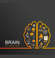 brainstorming concept with sciencebusiness icons vector image