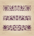 calligraphic ornaments for design vector image vector image