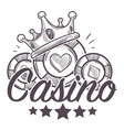 casino poster gambling playing in poker with vector image
