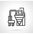 Cement factory machinery simple line icon vector image
