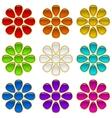 Colorful Buttons Set Flowers vector image vector image