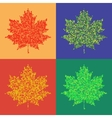 Colorful maple leaves isolated Halftone autumn vector image vector image